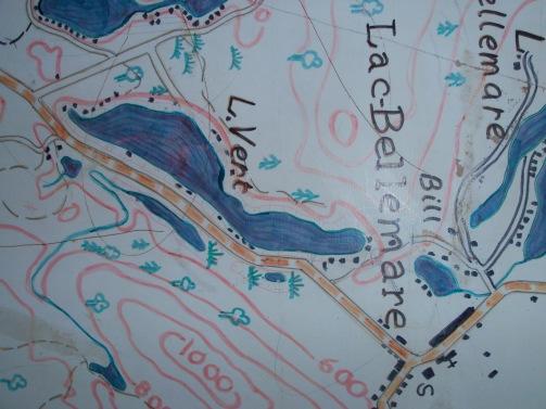 Cartographie du Lac Vert
