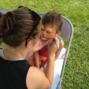 Maquillage fait par Cocotte - modèle 1 - Fête de la Famille St-Mathieu du Parc 2015