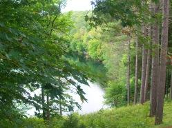 Vue sur lac du préau